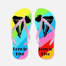 DIVING GIRL Flip Flops