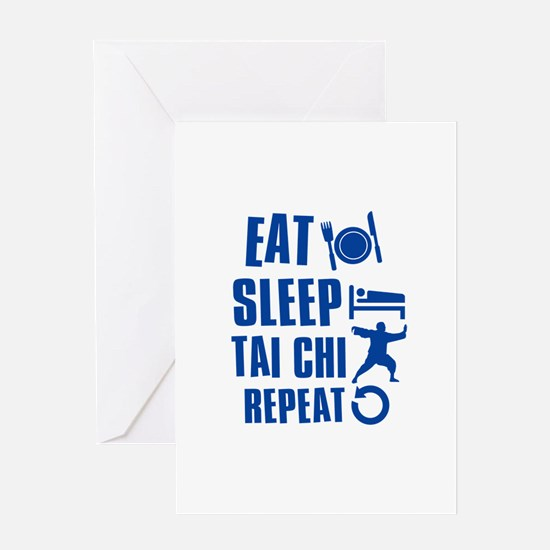 Eat sleep Tai Chi Greeting Card