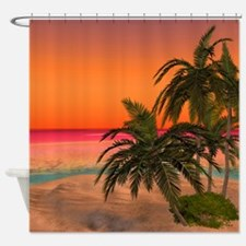 Dreamy Desert Island 2 Shower Curtain
