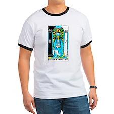 The High Priestess Tarot Card Ash Grey T-Shirt