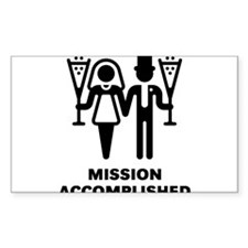 Mission Accomplished (Wedding / Marriage) Decal