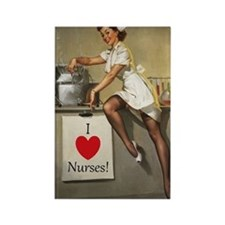 Nifty Nurse Rectangle Magnet