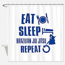 Eat sleep Brazilian Jiu Jitsu Shower Curtain