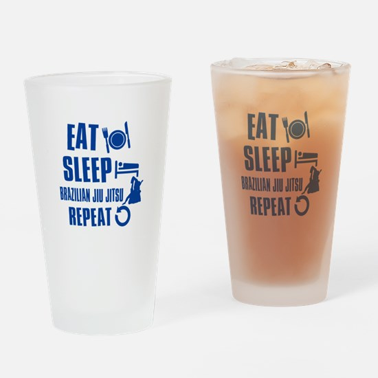 Eat sleep Brazilian Jiu Jitsu Drinking Glass