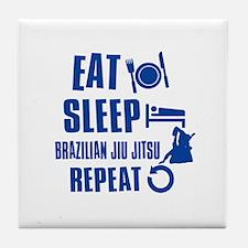 Eat sleep Brazilian Jiu Jitsu Tile Coaster