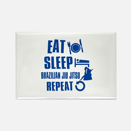 Eat sleep Brazilian Jiu Jitsu Rectangle Magnet