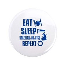 "Eat sleep Brazilian Jiu Jitsu 3.5"" Button (100 pac"