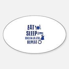 Eat sleep Brazilian Jiu Jitsu Sticker (Oval)