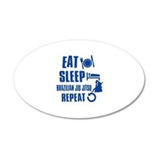 Eat sleep Brazilian Jiu Jitsu Wall Decal