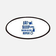 Eat sleep Brazilian Jiu Jitsu Patches