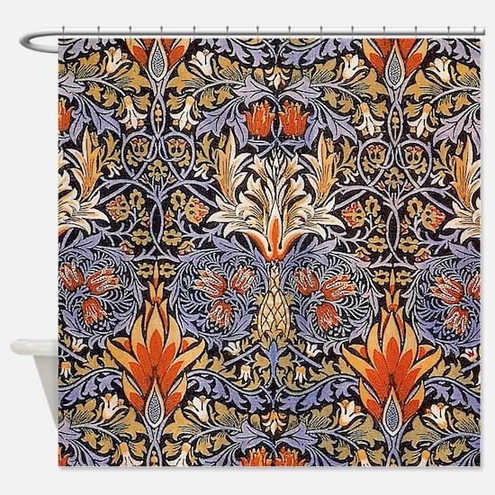 Morris Snakeshead Design Shower Curtain