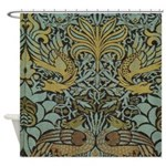 Morris Peacock and Dragon design Shower Curtain
