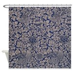 Birds and Anemones by Morris Shower Curtain