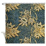 Morris Tulip and willow Shower Curtain
