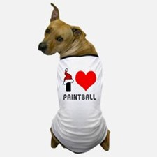 I Love Paint Ball Dog T-Shirt