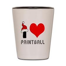 I Love Paint Ball Shot Glass