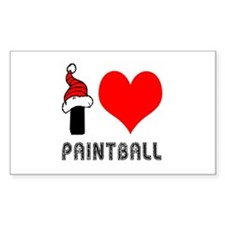 I Love Paint Ball Decal
