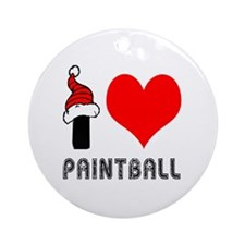 I Love Paint Ball Ornament (Round)