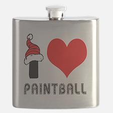I Love Paint Ball Flask