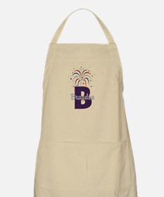 4th of July Personalized initial B Apron
