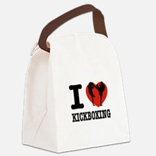 I love Kickboxing Canvas Lunch Bag