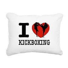 I love Kickboxing Rectangular Canvas Pillow