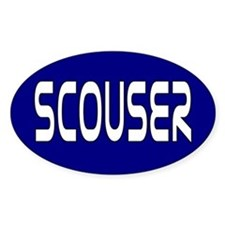 Scouser White on Blue Decal