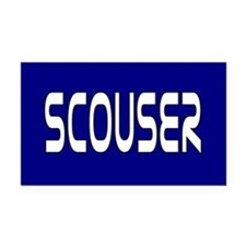 Scouser White on Blue Rectangle Car Magnet