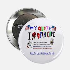 """Obamacare Anti American 2.25"""" Button"""