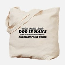 Ameirican paint Horse pet designs Tote Bag