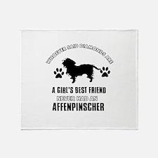 Affenpinscher Mommy designs Throw Blanket