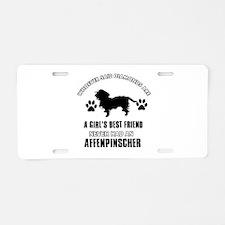 Affenpinscher Mommy designs Aluminum License Plate