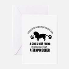 Affenpinscher Mommy designs Greeting Cards (Pk of