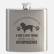 Affenpinscher Mommy designs Flask