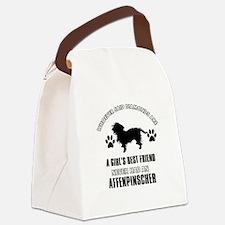 Affenpinscher Mommy designs Canvas Lunch Bag