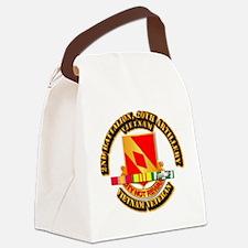 Army - 2-20th FA w VN SVC Canvas Lunch Bag