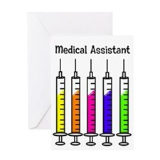 Medical Assistant 7 syringes Greeting Card