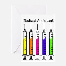 Medical Assistant 7 syringes Greeting Card
