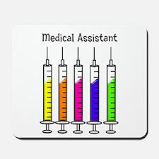 Medical Assistant 7 syringes Mousepad