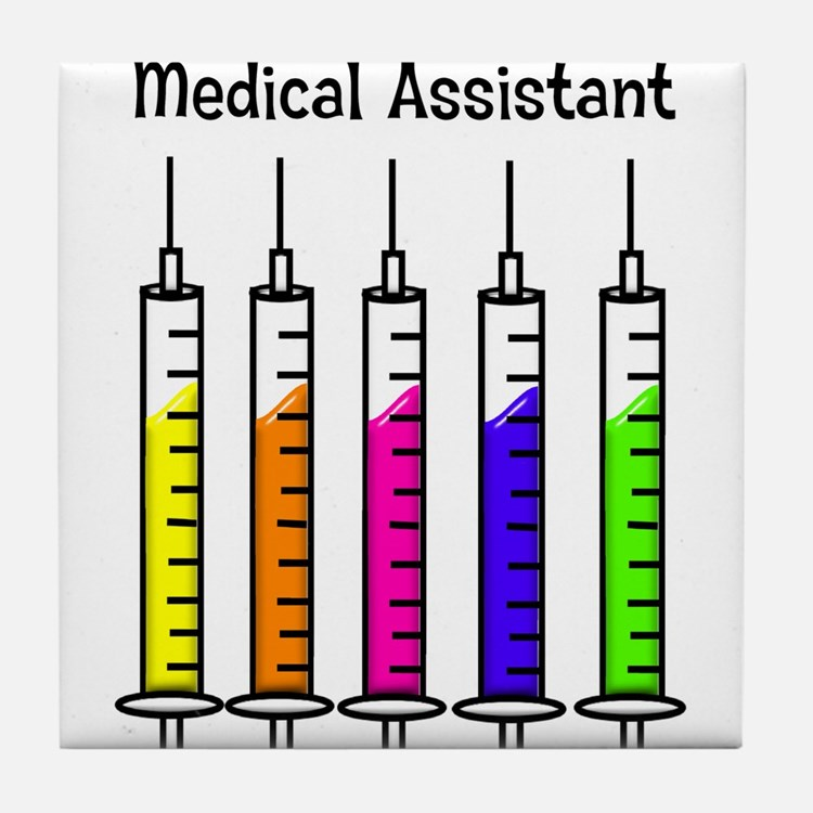 Medical Assistant 7 syringes Tile Coaster