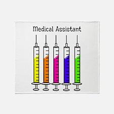 Medical Assistant 7 syringes Throw Blanket