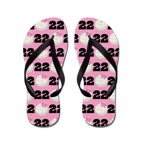 Volleyball Player Number 22 Flip Flops by cuteflipflops