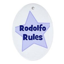 Rodolfo Rules Oval Ornament