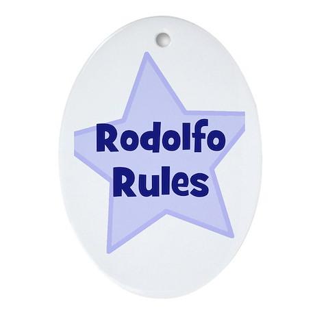 Rodolfo Rules Oval Ornament