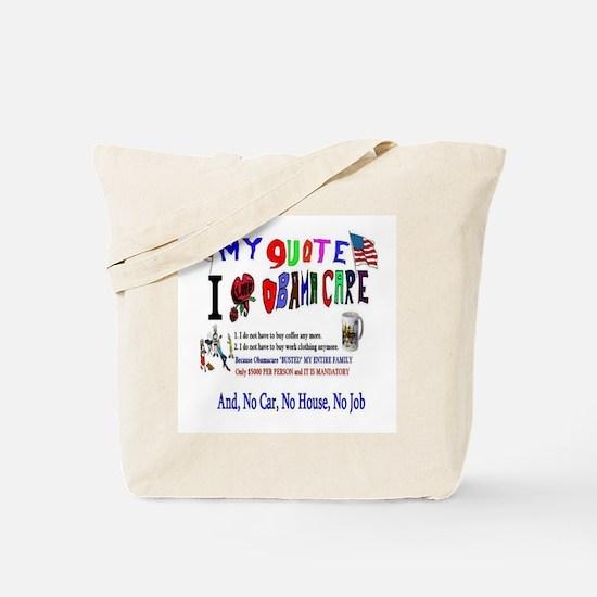 Obamacare Anti American Tote Bag