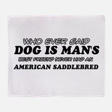 American Saddlebred pet designs Throw Blanket