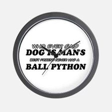 Ball Python pet designs Wall Clock