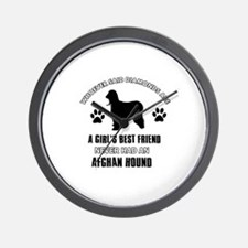 Afghan hound Mommy designs Wall Clock