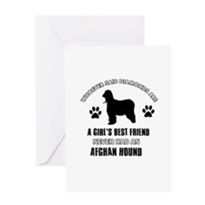 Afghan hound Mommy designs Greeting Card