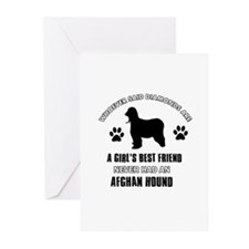 Afghan hound Mommy designs Greeting Cards (Pk of 2
